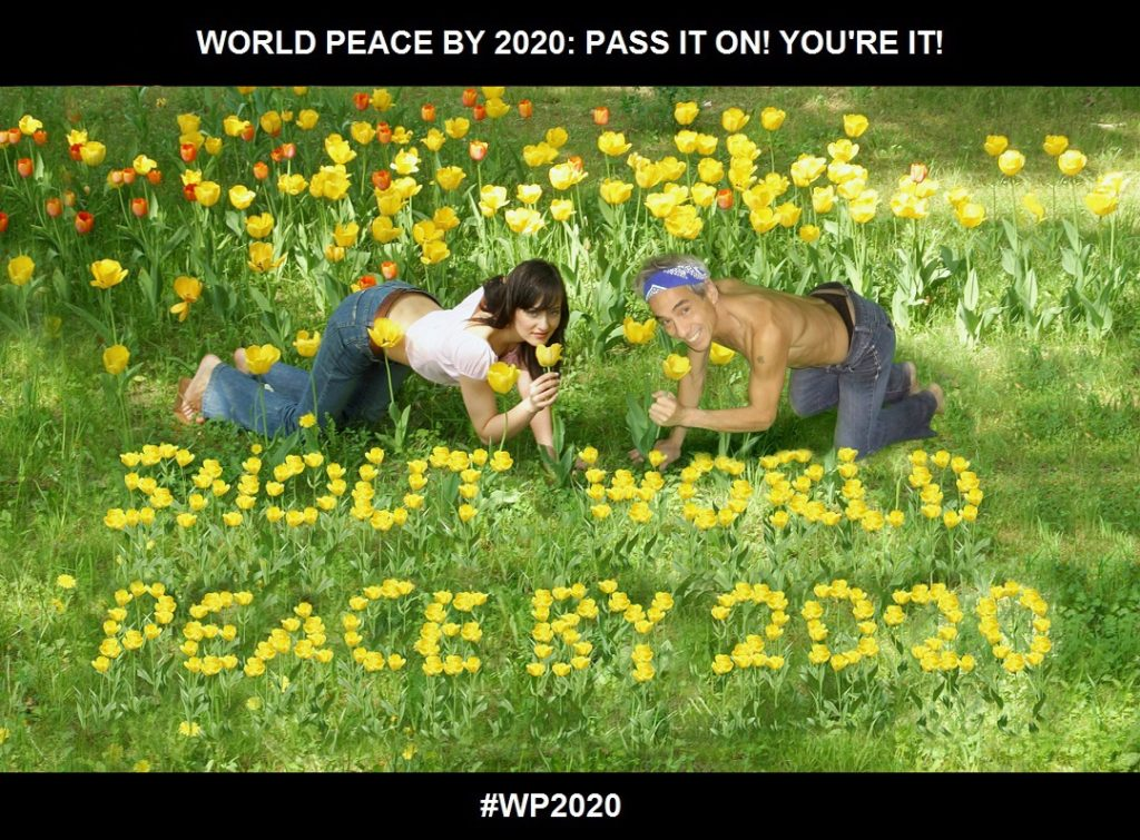 Flowers In Her Hair, Flowers Everywhere!-WORLD PEACE BY 2020-CHARLESCRAWSHAW