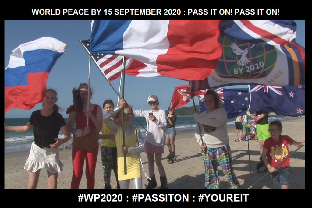 WORLD PEACE ON Tuesday 15 September 2020-PASS IT ON! YOU'RE IT!-Charlescrawshaw