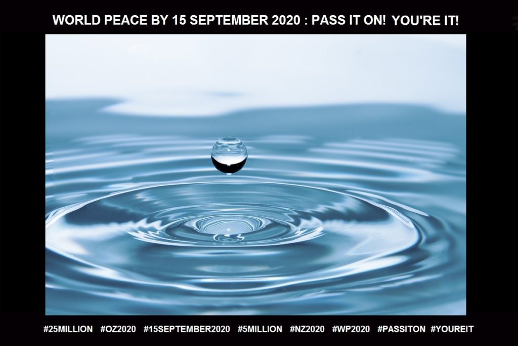 Water-An Evocative Vision for the Mind-17 of 65-WORLD PEACE ON Tuesday 15 September 2020