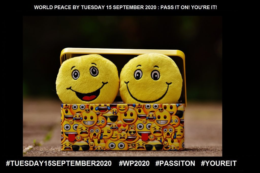 Smile-An Indication of Happiness-5 of 65-WORLD PEACE ON Tuesday 15 September 2020