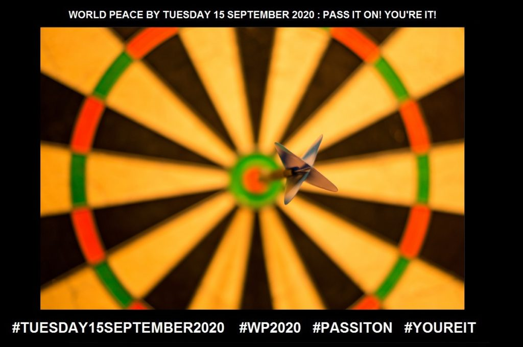 Goals-An Aim or Desired Result-24 of 65-WORLD PEACE ON Tuesday 15 September 2020