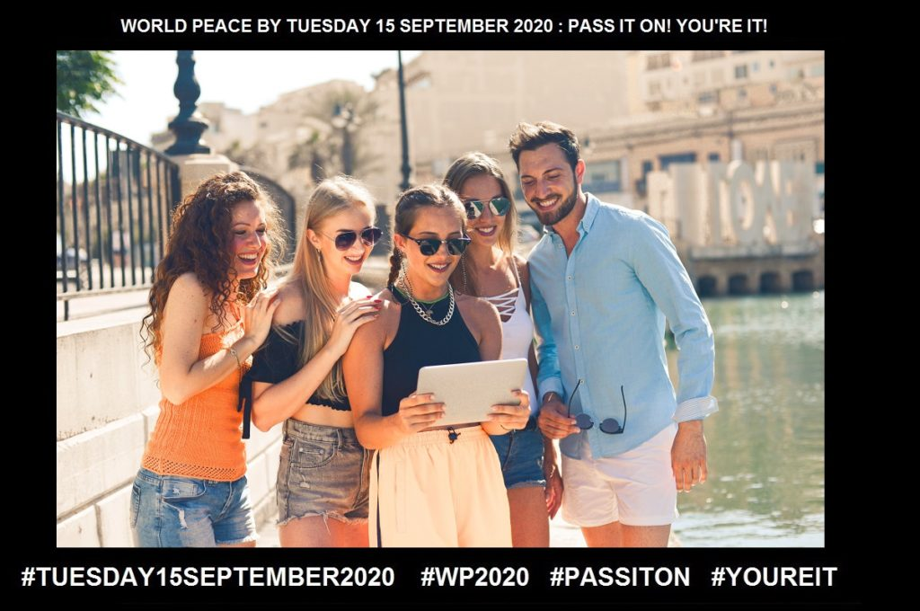 Sharing-The act of Participating-22 of 65-WORLD PEACE ON Tuesday 15 September 2020
