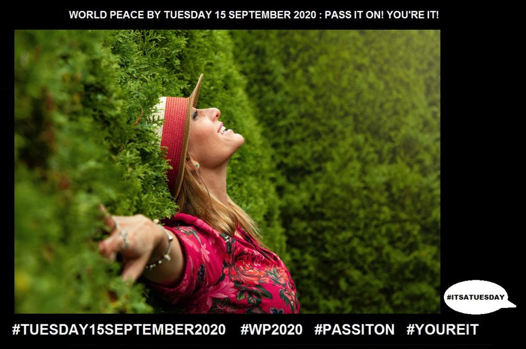 Happiness-A Sense of Well Being-33 of 65-WORLD PEACE ON Tuesday 15 September 2020