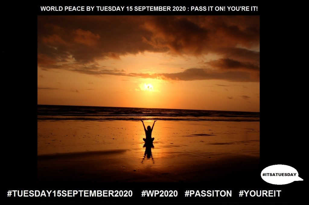 Perceive-Come to Realise or Understand-30 of 65-WORLD PEACE ON Tuesday 15 September 2020