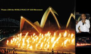 Fireshow at Sydney Opera House