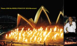 15 September 1996 Fire show performing a World Record with 92 Fire Breathers uponm the Sydney Opera House Steps