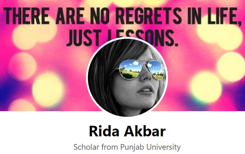 Facebook page for Rida Akbar